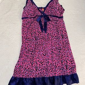Y2K leopard slip cami dress
